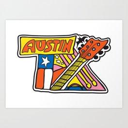 Austin TX Art Print