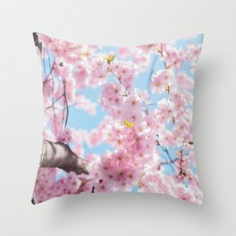 flower photography by Arno Smit Throw Pillow