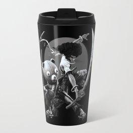 black 'n white samurai Travel Mug