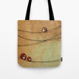 Rustic Bird Print, Country, Chic Look Tote Bag
