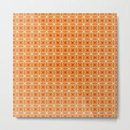 Orange Fizz Retro Print Seamless Pattern Metal Print