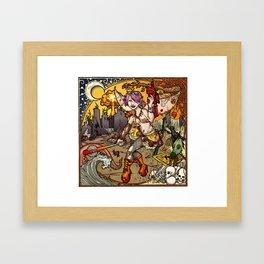 Chaos & Entropy Fairy Framed Art Print