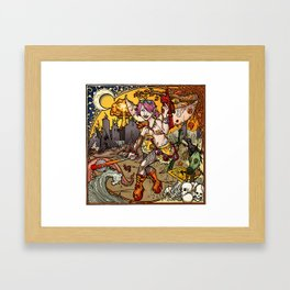 Chaos & Entropy Fairy Framed Art Print