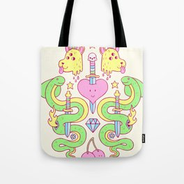 snakes&daggers&dogheads&otherstuff Tote Bag