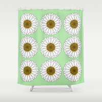 daisy Shower Curtains featuring Daisy by Lorelei Douglas