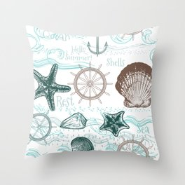 Sea shells love Throw Pillow
