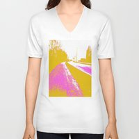 road V-neck T-shirts featuring Road by Mr and Mrs Quirynen