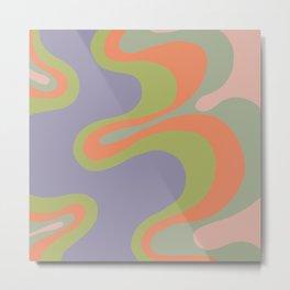 Popart pattern, modern, minimal, playful  Metal Print