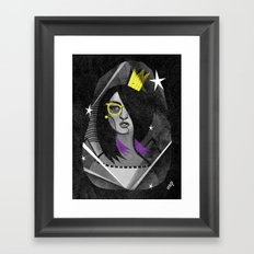 Diamond girl Framed Art Print