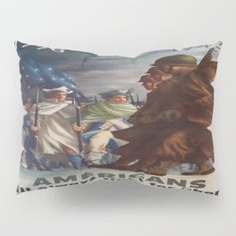 Vintage poster - World War II Pillow Sham