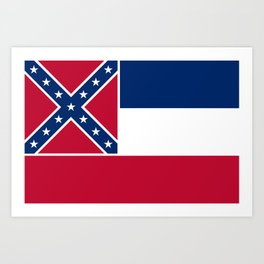 Mississippi State Flag, Authentic Version Art Print