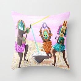 Dogon Dama Throw Pillow
