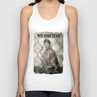 the walking dead Tank Tops featuring The Walking Dead by ketizoloto