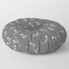 Skeleton Yoga_Gray Floor Pillow