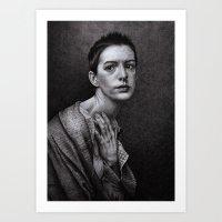 monika strigel Art Prints featuring There Was A Time... Monika Jasnauskaite by Junkie Juice