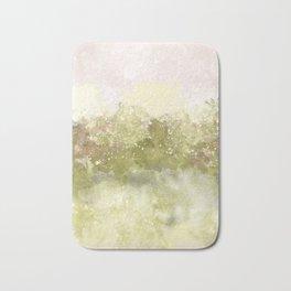 Choppy Soft Pink and Deep Yellow Ocean Water Bath Mat