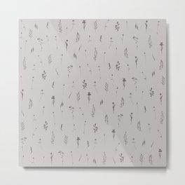 Wildflowers XVII - Warm Tone Gray Metal Print