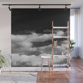 Clouds in black and white Wall Mural