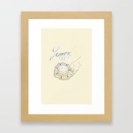 Lemon Tart Framed Art Print