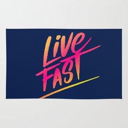 live fast Rug