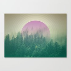 Orchid Vibes Forest Canvas Print