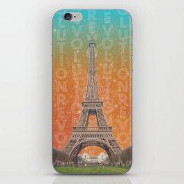 Revolutions - Eiffel Tower iPhone Skin