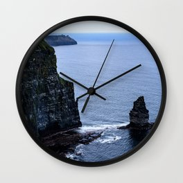 Ireland Photography - Nature landscapes - sea and mountains - Cliffs of Moher, Clifden, Burren and Slieve League Wall Clock