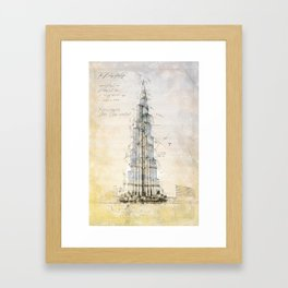 Burj Khalifa, Dubai Framed Art Print