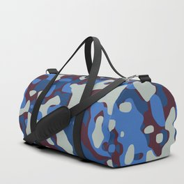 Blue & Burgandy Camo Pattern Duffle Bag