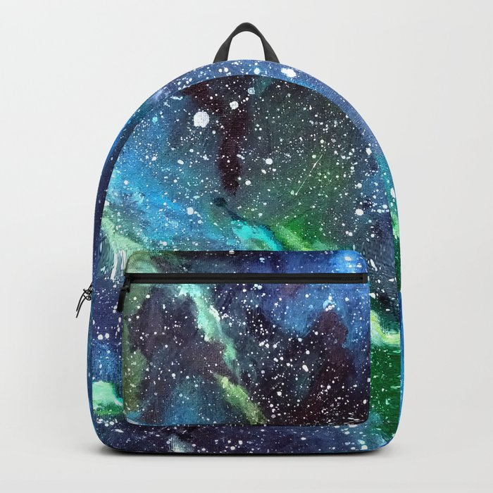 Galaxy (blue/green) Backpack