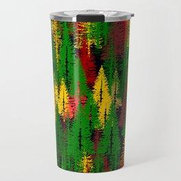 autumn fir forest Travel Mug