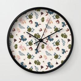 Floral Pattern 111-21CW7 Wall Clock
