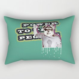Power To The People - Dog Rectangular Pillow