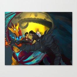 Come Pet My Dragon Canvas Print