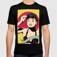 Audrey Mens Fitted Tee MEDIUM Black