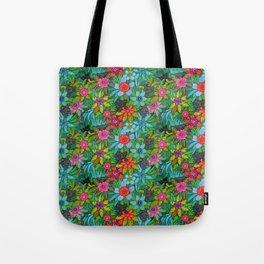Pattern kitties and flowers Tote Bag