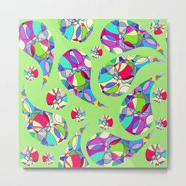 Paisley pattern #4W Metal Print
