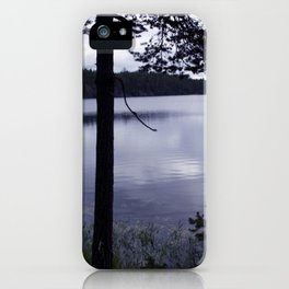 Blue Moment Lake View iPhone Case