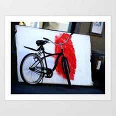 Bike and canvas Art Print