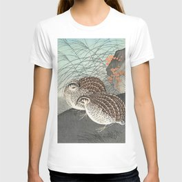 Ohara Koson, Two Quails In The Field - Vintage Japanese Woodblock Print  T-shirt