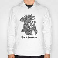 jack sparrow Hoodies featuring Captain Jack Sparrow by christoph_loves_drawing
