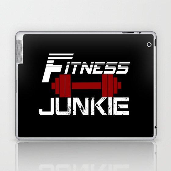 Fitness Junkie Laptop & iPad Skin