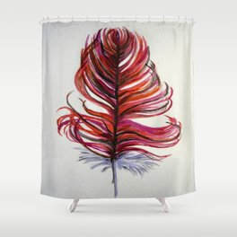 RED FEATHER Shower Curtain