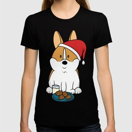Corgi Santa Milk and Cookies T-shirt