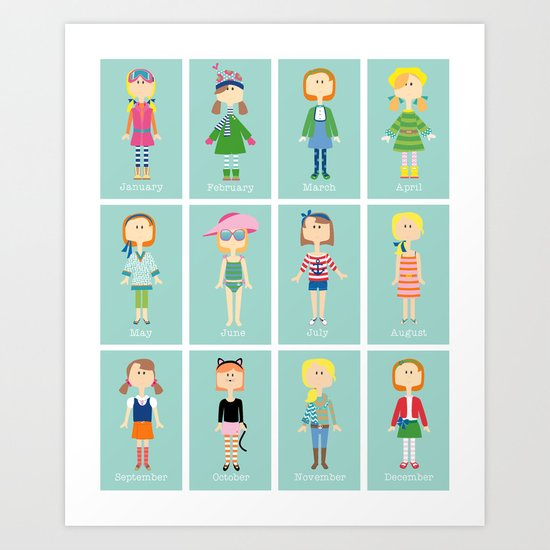 Calendar Girls Art Print