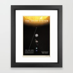 THE SOLAR SYSTEM - Sun | Venus | Mercury | Earth  | Space | Time | Science | Planets | Moon Framed Art Print