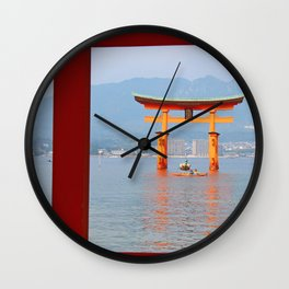Miyajima Shrine Wall Clock