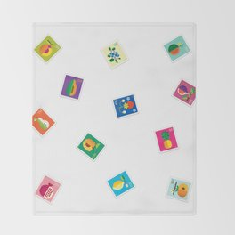 Fruit Stamps Throw Blanket
