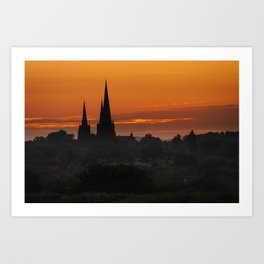 Sunrise Lichfield Art Print
