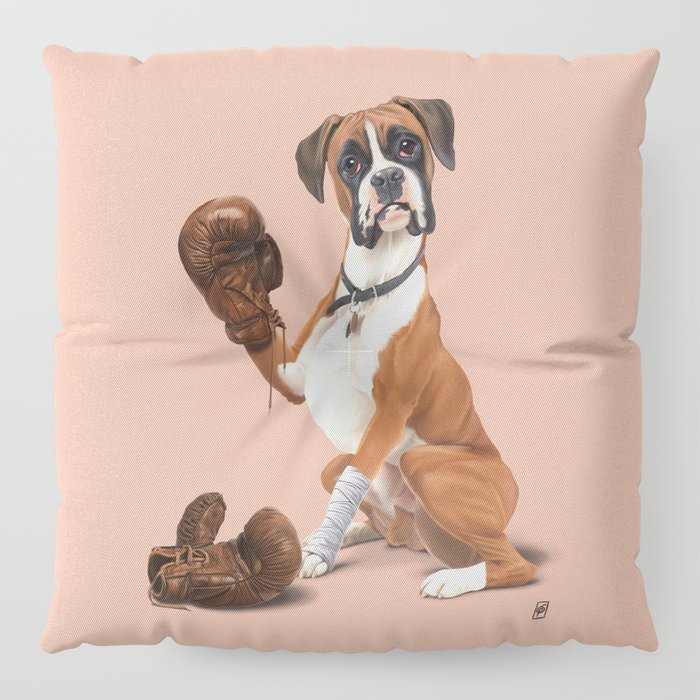The Boxer (colour) Floor Pillow